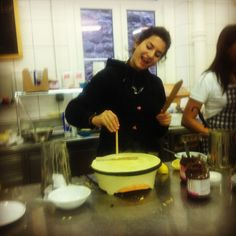 Special breakfast pick-me-up at the Belle Époque. #crepes #switzerland #las #students #yum