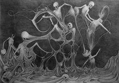 "Saatchi Art Artist Bradley Oliver-White; Drawing, ""NEUROTIC"" #art"