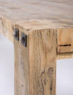 balkentafel en andere tafels van hout, steen en/of ijzer op maat gemaakt bij jan van ijken oude bouwmaterialen eemnes    www.oudebouwmaterialen.nl