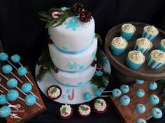 Ein Sweet Table zur Nikolaus-Winter-Hochzeit , winter wedding  http://biskuitwerkstatt.blogspot.com
