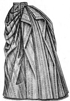 Understanding the Burnous Pleat. Just about every skirt from 1887 - 1888 has some kind of drape created by this form of pleat - via Truly Victorian blog