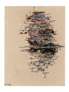 Carol Rama, 'L'Isola degli occhi (The Island Of The Eyes)', 1966