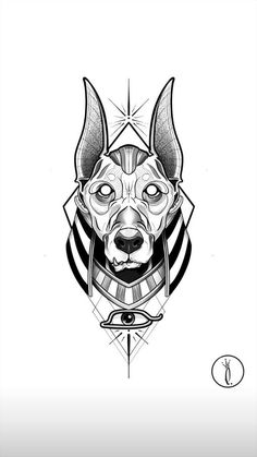 Scary Tattoos, Anime Tattoos, Dog Tattoos, Black Tattoos, Body Art Tattoos, Egypt Tattoo Design, Tattoo Design Drawings, Tattoo Sketches, Tattoo Designs Men