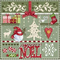 Madame La Fée Soon Christmas! cross stitch embroidery card at Univers
