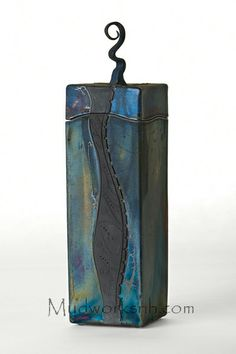 This Raku Box is inspired by the river by my studio.