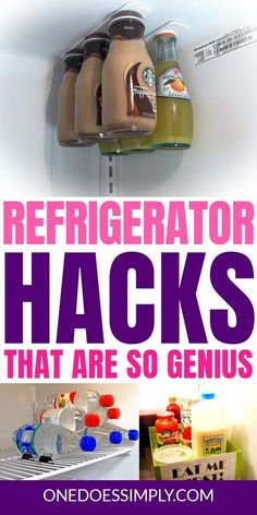 There are so many things to store in refrigerator. And yeah, that often leads to the mess. Luckily, there are genius organization hacks that are cheap and easy so you can try it immediately for your fridge. Go check them out! #fridge #refrigerator #organization #DIYdecorating