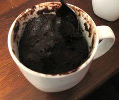 Sjokoladekake i kopp - i mirkobølgeovn.