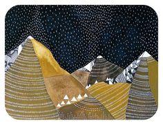 night rain // contemporary watercolor by theblackbirdsings on Etsy, £80.00