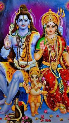Avercart Lord Shiva / Shree Shankar / God Shiva with Parvati, Ganesha and Kartikeya - Murugan / Mahadev Poster inch with Photo Frame cm framed) Shiva Parvati Images, Shiva Hindu, Shiva Art, Hindu Deities, Ganesha Art, Lord Ganesha, Kali Shiva, Durga Maa, Krishna Radha