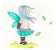 Spring Breeze Breeze, Smurfs, My Arts, Colours, Watercolor, Ink, Spring, Fictional Characters, Pen And Wash