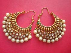 Beautiful polki earrings - cooliyo.com