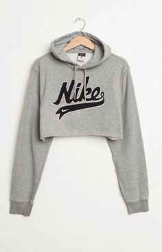 Retro Gold Nike Cropped Hoodie at PacSun.com Crop tops are a must<3