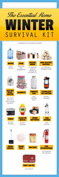 The Essential Home Winter Survival Kit #Emergency #Prep