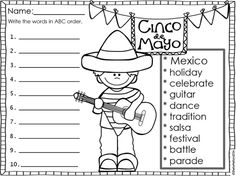 Celebrate Cinco de Mayo with your students with these fiesta themed no prep print and go FREEBIES!