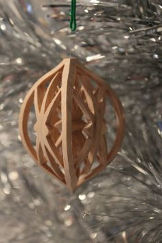 Scroll saw pattern Christmas Ornament: by ClaytonsPatterns on Etsy
