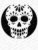 sugar skull pumpkin stencil - Bing Images