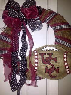 Making this wreath for Football season 2013. KC :) it will be adorable!