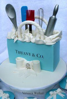Tiffany Kitchen Tea Party Cake by Verusca.deviantart.com on @deviantART
