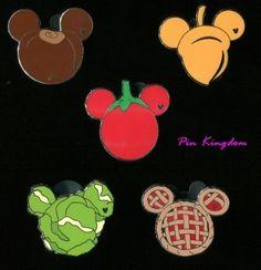 Mickey Fun Food Collection Hidden Mickey Disney Pin Set WDW | eBay