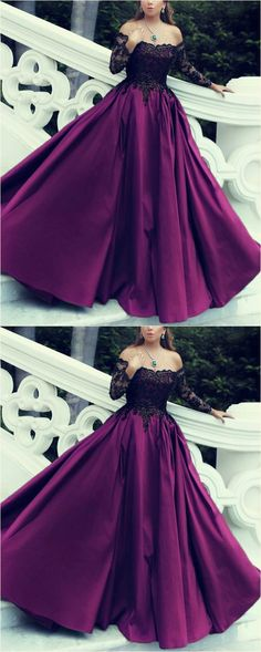 purple quinceanera dresses ball gown with black lace long sleeves ML12294 by moonlight, $143.44 USD Purple Quinceanera Dresses, Sequin Prom Dresses, Ball Gown Dresses, 15 Dresses, Off Shoulder Ball Gown, Online Shopping, Princess Ball Gowns, Sweet 16 Dresses, Wedding Dress Sleeves