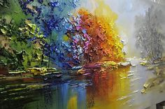 Best Tips for Painting with Textured Paint Art Painting, Colorful Landscape Paintings, Painting, Art, Texture Painting, Abstract, Canvas Painting, Texture Painting On Canvas, Palette Knife Painting