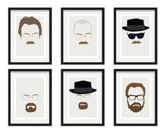 Breaking Bad Minimalist Posters (Walter White - Heisenberg - Mr Lambert) Size A4…