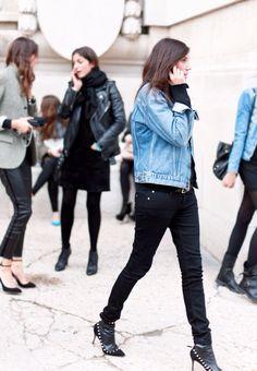 Emmanuelle Alt Style, Fashion Gone Rouge, French Chic, Denim Outfit, Parisian Style, Vogue Paris, Jeans Style, Alter, Autumn Fashion