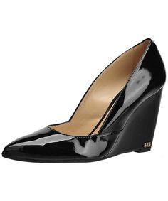 Solo Femme Black patent, Koturny z noskiem w szpic - Butyk. Vogue, Loafers, Wedges, Model, Shoes, Black, Fashion, Woman, Travel Shoes