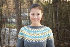 I want this lopapeysa! Icelandic Sweaters, Yarn Projects, Hand Knitting, Pullover, Sewing, Ravelry, Color, Inspiration, Library Books