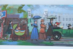 1960s Women's Suffrage to Emancipation to Women's Lib Painting, Swanson | From a unique collection of antique and modern paintings at http://www.1stdibs.com/furniture/folk-art/paintings/