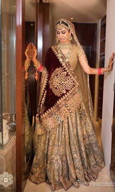 Indian Wedding Gowns, Desi Wedding Dresses, Indian Bridal Outfits, Indian Bridal Wear, Wedding Outfits, Indian Dresses, Indian Wear, Bridal Dresses, Wedding Goals