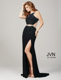 JVN Prom Collection, Style JVN36750A, Black, Sz. 8, $460 Available at Debra's Bridal Shop. Visit us at 9365 Philips Hwy., Jacksonville, Fl. 32256