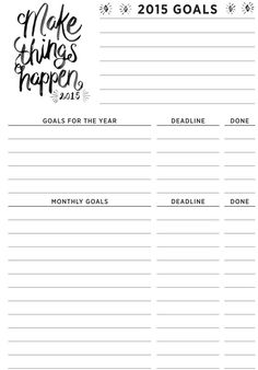 Lanalou Style | Make things happen – New Year freebies | http://lanaloustyle.com