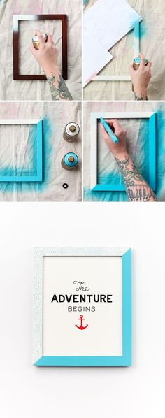 Refresh your old frames with a quick spraypaint #upcycle!