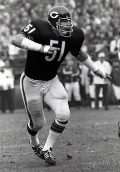 Dick Butkus, Chicago Bears.  Ok, Dick Butkus was never at grandma's house, but the Bears were THE team and the games were always on in the background of my childhood.