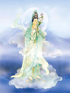 Lotus-holding Kuan Yin