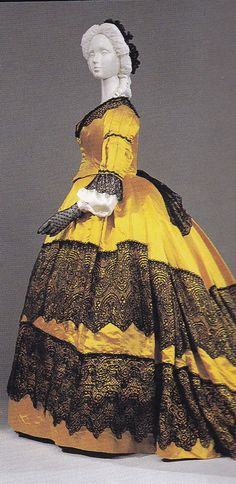 Dress ca. 1865 From the Pitti Palace Gallery of Costume via...