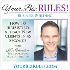 Want a way to attract your clients in 45 seconds?  Never wonder how to say what you do again as Kris Hamilton shares with us how to use his doorways to discover your lightning rod to clients.