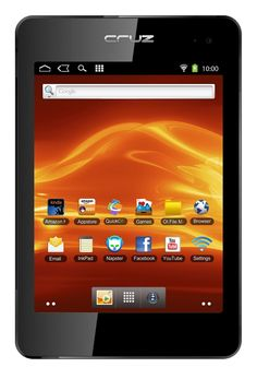 """Velocity Micro Cruz Tablet T408 - 8-Inch Android Tablet with Flash. Front facing camera for video conferencing. Quick Office Full version and Angry Birds preinstalled. Download from a library of thousands of apps via Amazon Appstore, preinstalled. 8"""" capacitive screen provides more screen area for a more complete tablet experience. Flash enabled, pre-installed."""