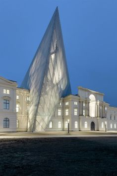 Daniel Libeskind - The Museum of Military History in Dresden, Germany🌸🌼More Pins Like This At FOSTERGINGER @ Pinterest 🌺🌻🌸🌾