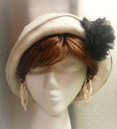 Linen Sun Hat Cloche Style Wire Brim
