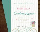 Printable Fun Bicycle Bridal Shower Invitation-Print Yourself-Digital Invite