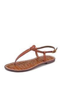 Sam Edelman Gigi Flat Sandals (Brown, Black)