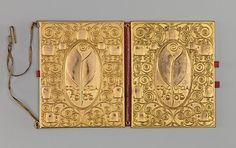 Dance Book Josef Hoffmann (Austrian, Pirnitz 1870–1956 Vienna) Manufacturer: Wiener Werkstätte Date: 1909 Medium: Gilded copper, leather, paper Dimensions: H. 5-1/2, W. 4-1/2 inches