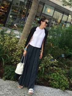 Pin by Monika Gurgul on My Style (only for me. Japan Fashion, Look Fashion, Daily Fashion, Modest Fashion, Skirt Fashion, Fashion Outfits, Womens Fashion, Looks Style, Simple Style