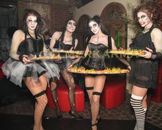 Halloween themed Canape hostesses and canape hosts to hire across the UK delivering your canapes with a delicious smile and a little theatre. Halloween Fright Night, Creepy Halloween, Uk Parties, Halloween Entertaining, Zombie Dolls, Candy Costumes, Little Theatre, Halloween Party Themes, Poses For Photos