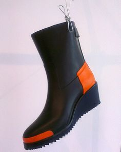 Wedge wellies by Nokian x Finsk Hunter Boots, Rubber Rain Boots, What To Wear, Wedges, Style Inspiration, Woman, Board, Outdoor, Shoes