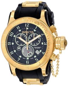 Men's Wrist Watches - Invicta Mens 15562 Russian Diver Analog Display Swiss Quartz Black Watch ** You can find out more details at the link of the image. (This is an Amazon affiliate link)