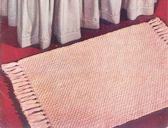 Basket Weave Rug – Free Crochet Pattern