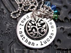 Hand stamped Mommy Necklace from Etsy - BragAboutIt shop